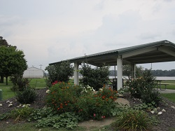Picture of the pavilion on the riverfront in LaGrange Missouri